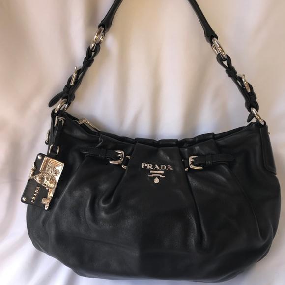 a05cc20ff4b11e Prada Bags | Authentic Black Leather Shoulder Bag | Poshmark